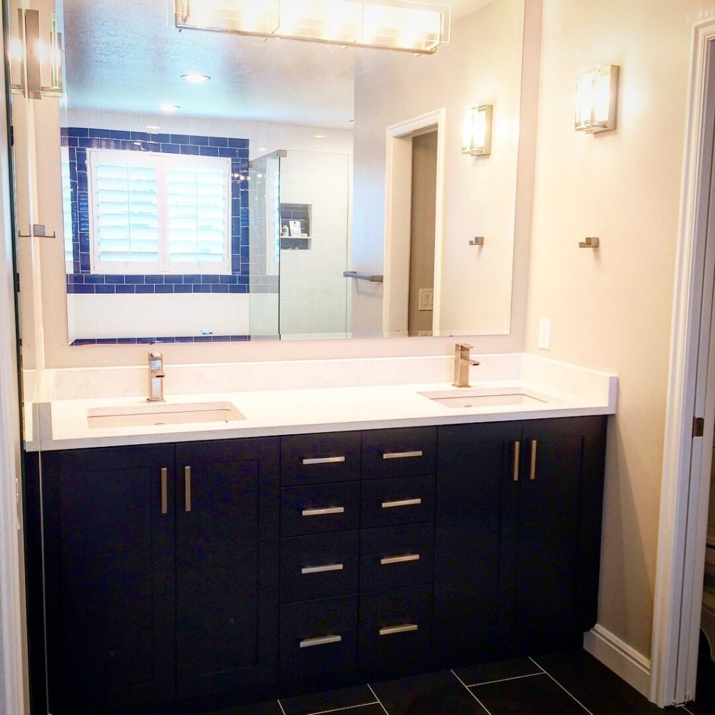 Salt Lake bathroom remodel double vanity