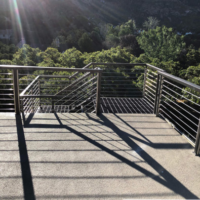 Sandy City Custom Deck Metal Staircase Railings