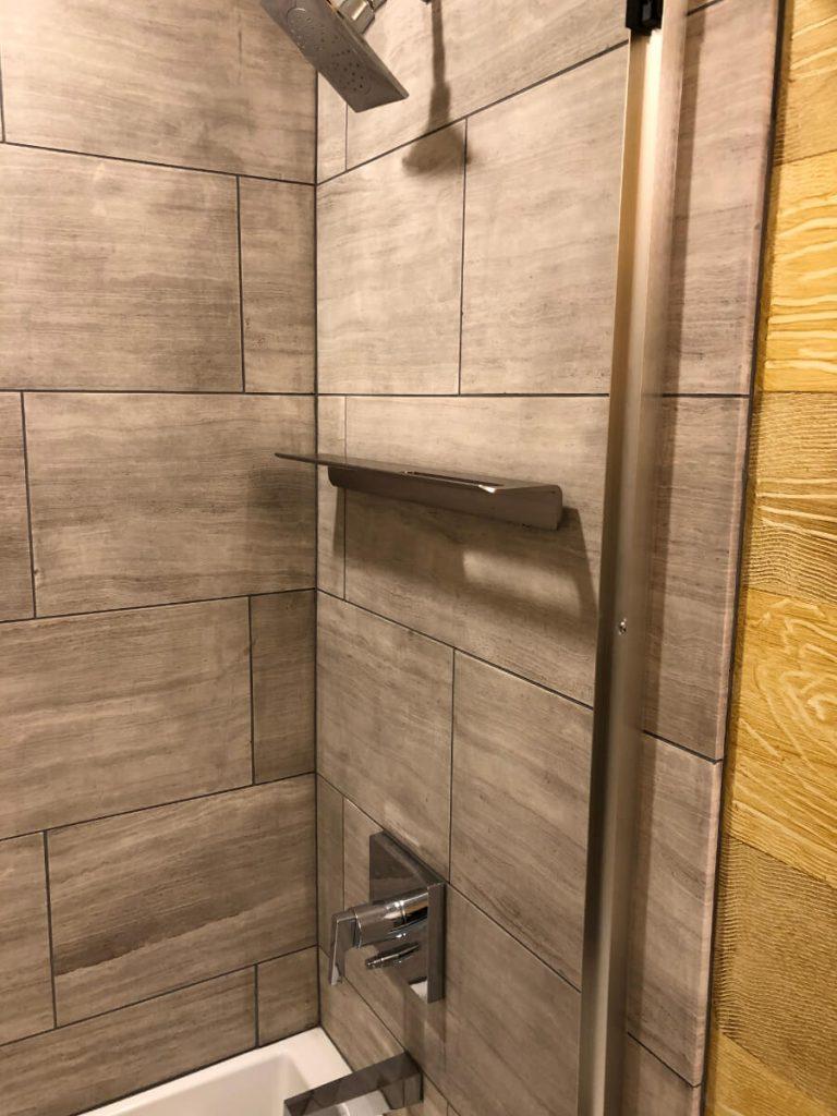 Sandy Bathroom Remodeling with Shower Tiles