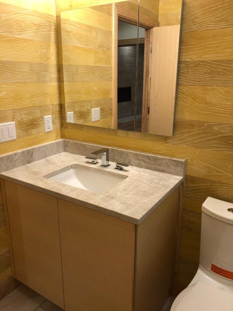 Sandy Bathroom Remodeling with Vanity Counter Top
