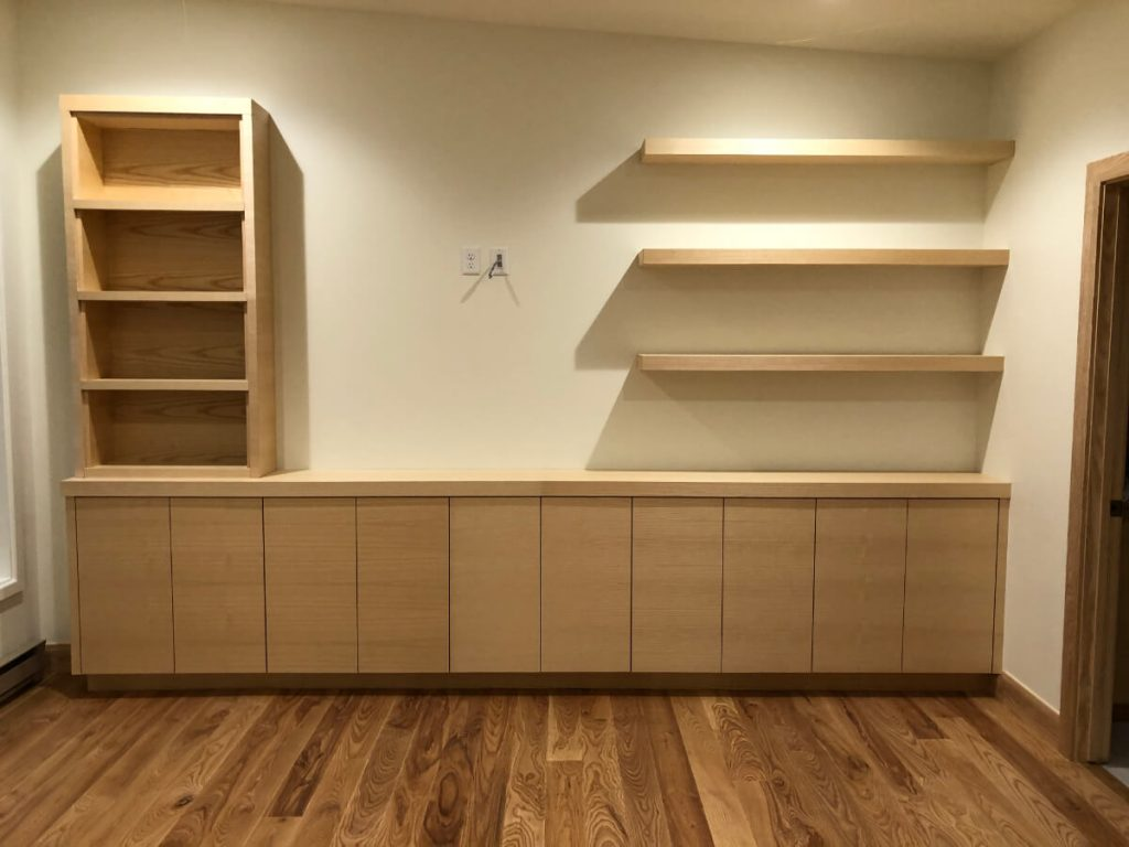 Sandy Condo Remodeling Built In Bookcase Cabinets