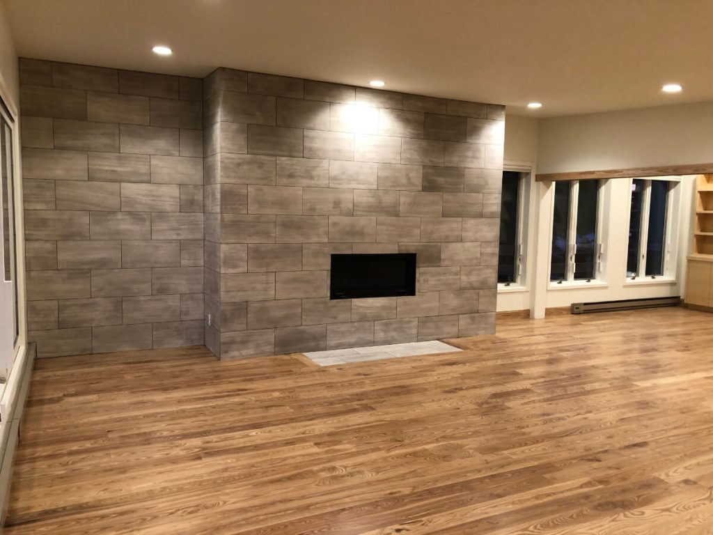 Sandy Condo Remodeling Fireplace
