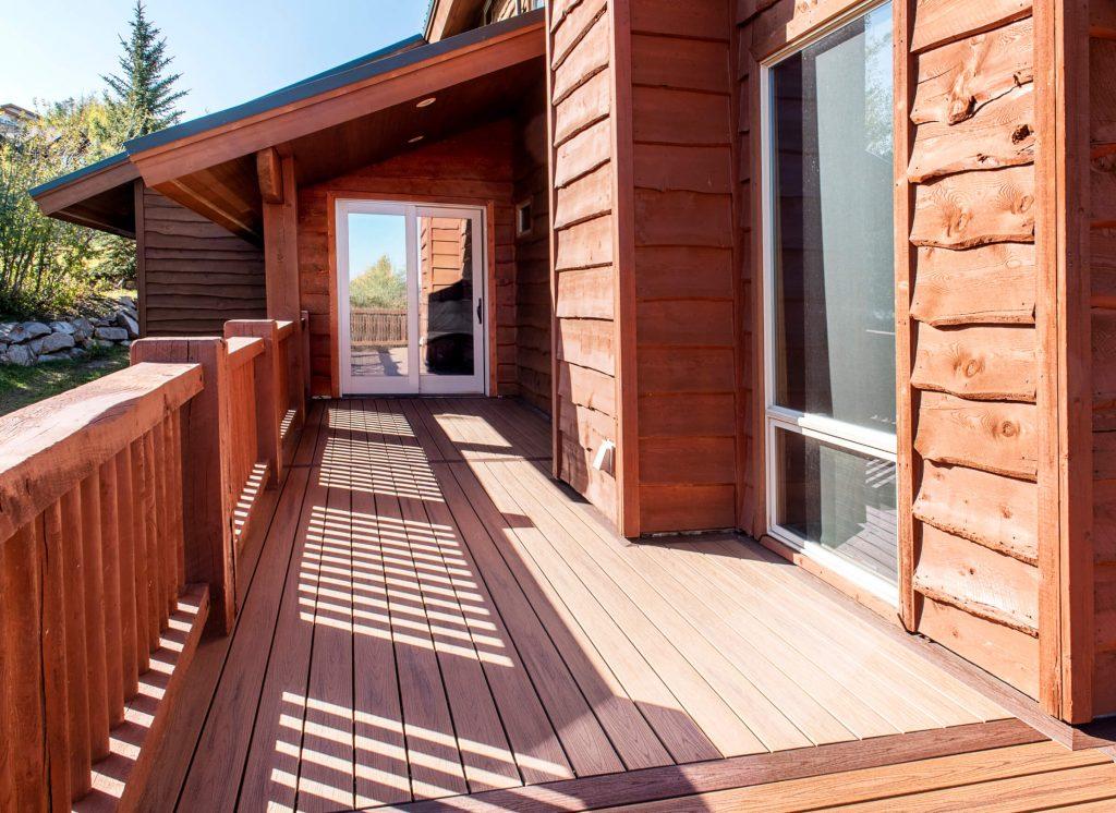 Park City Deck Build towards Guest Bedroom