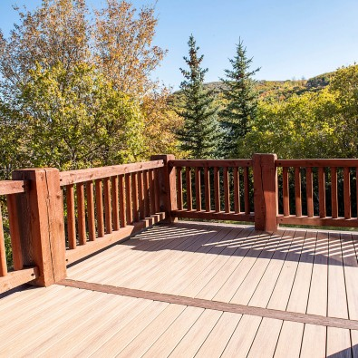 Park City New Deck Build with Living Room View