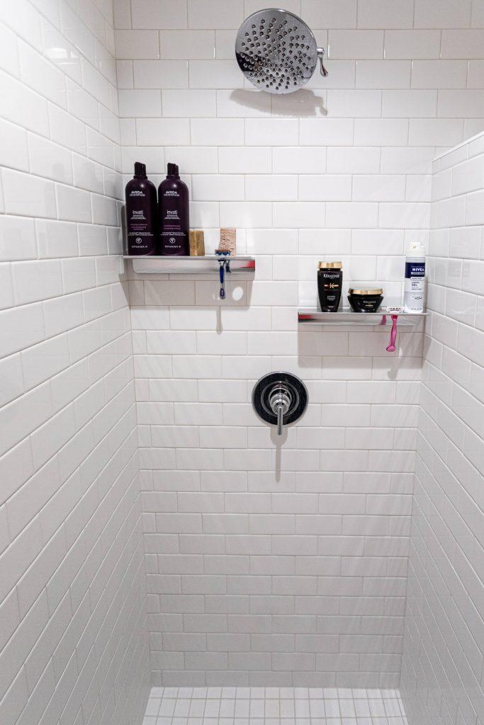 Sandy Bathroom Renovation with subway tile