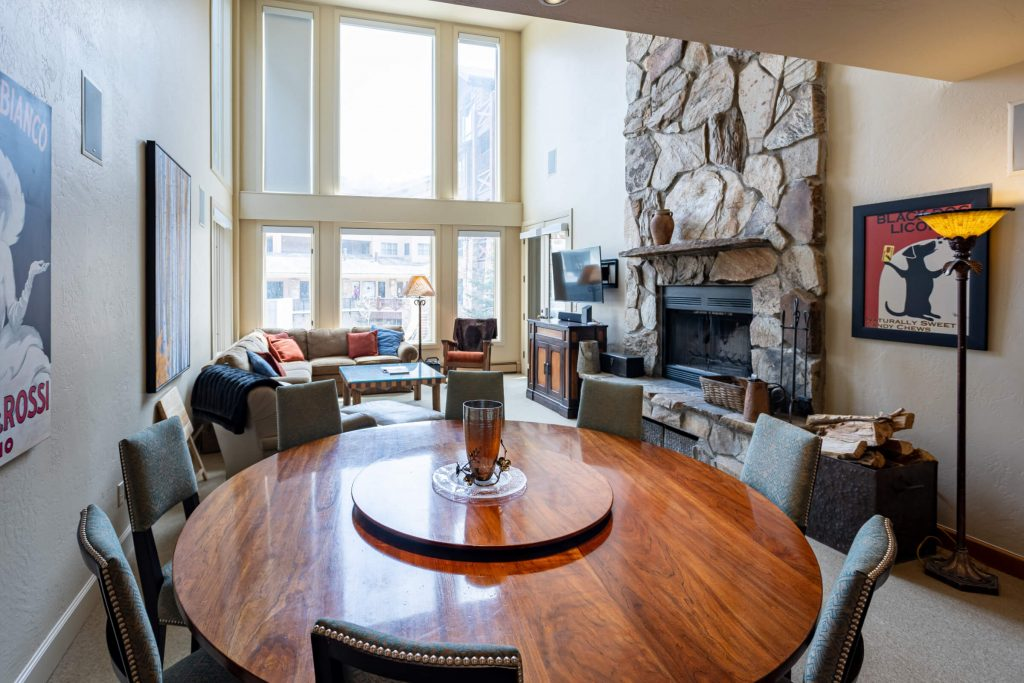 Park City Condo Remodel for upgraded Living Room