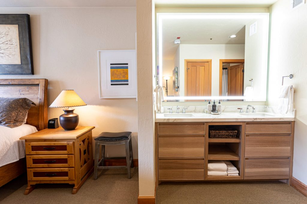 Park City Condo Remodel for Guest Room Vanity
